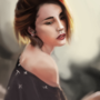Girl Painting Study
