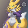 Curious Thick Thigh Renamon