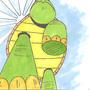 Giant Turtle by XplosiveAwesomeness