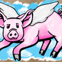 flying pig by JustJoshy