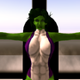 She-Hulk Working Out