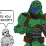 Doom guy and stormtrooper Star Wars