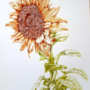 Ink Sunflower