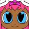 luna princessninjato wear a princess Dress