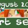 August Art Set Up on Gumroad