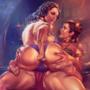 Padme and Leia cameltoe fun